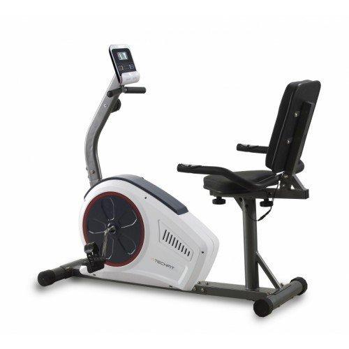 TechFit R450 Magnetic Recumbent Fitness Heimtrainer, Ideal für die Erholung Workout, Verstellbarer Sattel, Puls-Sensoren und LCD-Monitor