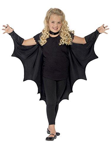 Vampir Fledermaus Umhang für Kinder schwarz (Vampir Cape Kind)