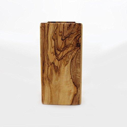 Mitienda Utensilienhalter aus Olivenholz | Handarbeit | Löffelständer aus Holz | Löffelhalter | Halter für Küchenutensilien | Ordnungshelfer