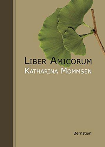 Preisvergleich Produktbild Liber Amicorum. Katharina Mommsen zum 85. Geburtstag
