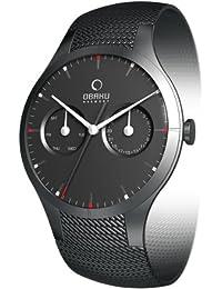 Obaku Harmony V100G BBMB - Reloj analógico de caballero de cuarzo con correa de acero inoxidable negra