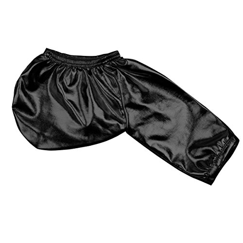 YiZYiF Herren Slips Bikini Briefs Männer Strings Tanga Reizvoll Kunstleder Unterwäsche Unterhose Erotik Penishülle Offene Schwarz One Size