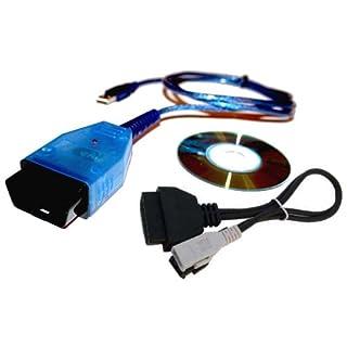 AutoDia K409 Auto Diagnose für VAG Fahrzeugdiagnose Interface USB kompatibel mit CarPort, VAG-COM bis Version 409, VCDS-Lite, VWTOOL plus 2x2 Adapter für alte Fahrzeuge