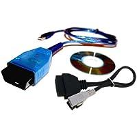 AutoDia K409diagnosi Auto VAG veicolo diagnostica interfaccia USB compatibile con CarPort, VAG-COM fino a versione 409, VCDS-Lite-Lite, Plus 2x 2VWTOOL Adattatore per vecchi veicoli - T3 T4 Adattatore