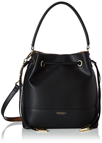 Carvela Damen Phoebe Bucket Bag Tote, Schwarz (Black), 12 x 28 x 27 cm (Bag Tote Fashion Black)