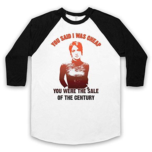 Inspiriert durch Sleeper Sale Of The Century Unofficial 3/4 Hulse Retro Baseball T-Shirt Weis & Schwarz