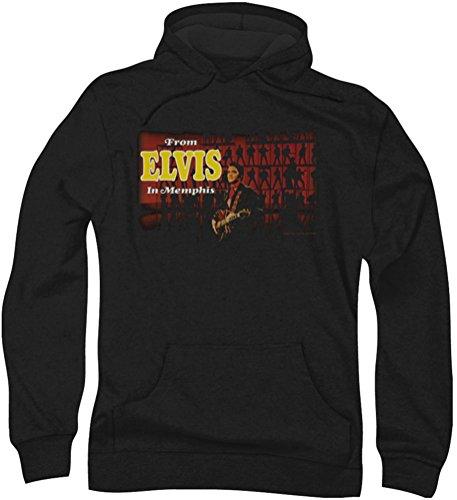Elvis Presley, Elvis In Memphis da uomo con cappuccio Nero
