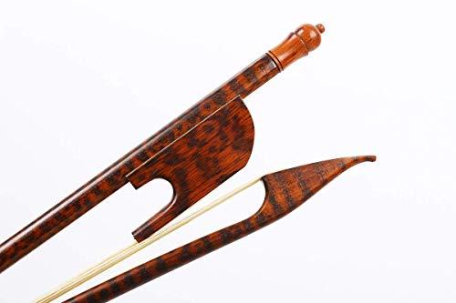Archetto per violino 4/4, in legno di serpente, stile barocco, in legno naturale, con crine di cavallo 4/4