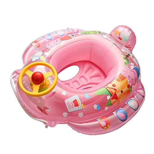 FOONEE Infant Baby Kinder Kleinkind Aufblasbare Schwimmring Float Sitz Boot für Pool Badewanne Zeit mit Lenkrad Griff Sicherheit Sitzen Schwimmen