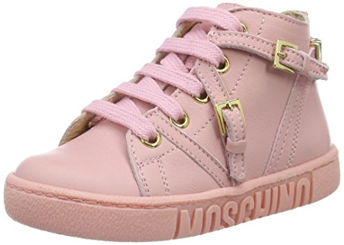 MOSCHINO 25914, Baskets Basses Fille Rose - Pink (rosa_9101)