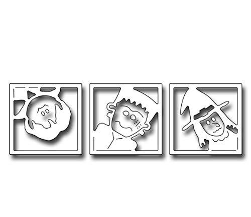 Halloween Stanzschablone Metall Schablone Schablone Schablone für DIY Scrapbook Album Einladung Karte Basteln Papier Karten, silber, 11