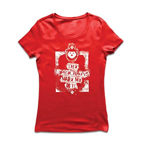 lepni.me Frauen T-Shirt Die Kobolde brachten Mich dazu, zitiert St. Patricks (Large Rot Mehrfarben) -