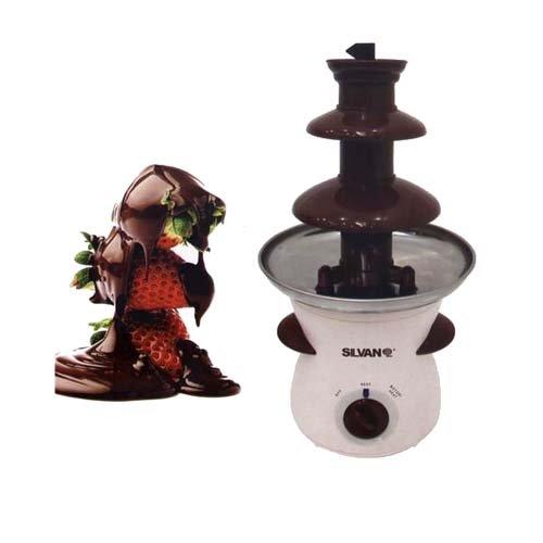 Fuente de chocolate 3 escalones electrica 500ml 80W fondue 37 x 19 cm