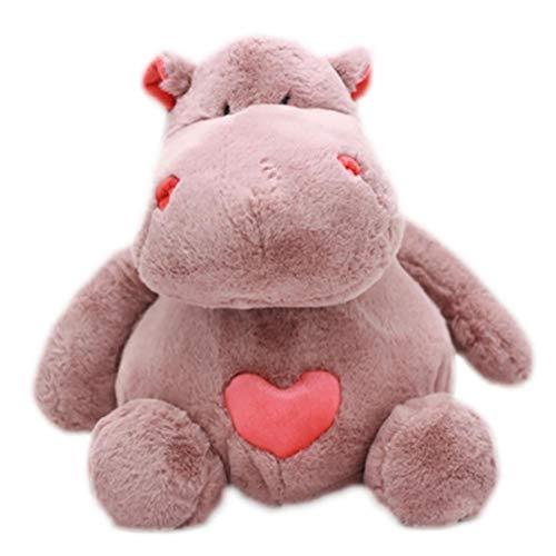 DaoRier 30CM Juguete de Peluche Hipopótamo Almohada Suave Estatuilla Muñeca Super Suave y Tierno Animal Relleno Muñeca para Niños Amante Regalos
