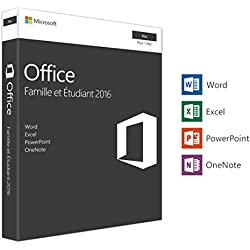 Microsoft Office Famille et Etudiant 2016 | 1 Mac | Box