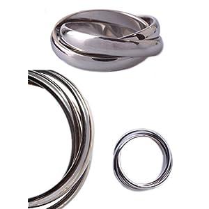 IhnSie dreierring Edelstahl Damen Herren Ring bandring 14 Größen