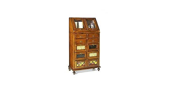 Credenza Bassa Arte Povera Prezzi : Estea mobili credenza legno dispensa arte povera amazon