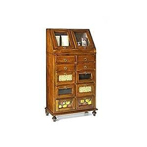Estea mobili credenza legno dispensa arte povera 243 casa e cucina - Amazon mobili cucina ...