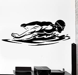 Wall Sticker Sport Swim Swimming Swimmer Butterfly Stroke (z2985) by Wallstickers4you