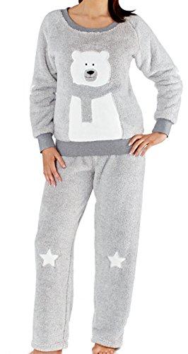 Selena Secrets - Ensemble de pyjama - Personnage - Manches Longues - Femme gris gris Gris