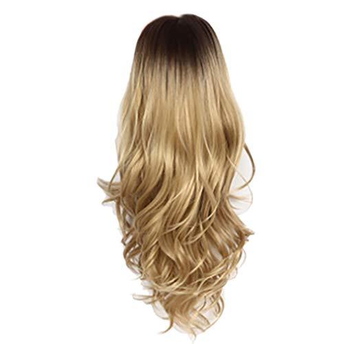 (Perücken Cosplay Große Wellen, Bluestercool kühle blonde lange volle gewellte Perücke lockiges natürliches Haar)