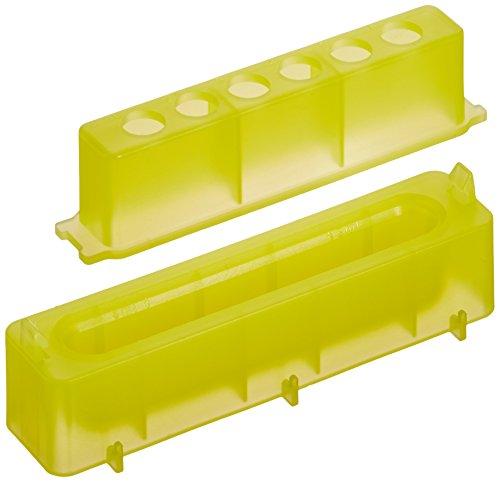 neolab 7-47598canali serbatoio PP con provette 0,5ml Rack, giallo (Confezione da 10)