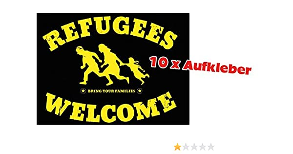 Racker N Roll Refugees Welcome Bring Your Families 10er Pack