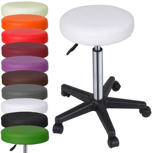 Ikea Sgabelli Regolabili.Miadomodo Sgabelli Regolabili Con Ruote Colore Bianco Set Da 1