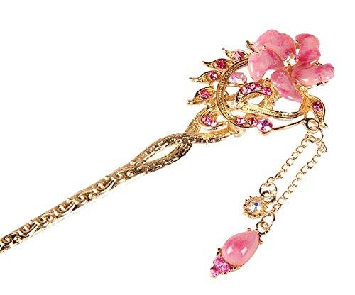 Nuptiale Coiffe Ornements cheveux épingle classique main, fleur rose
