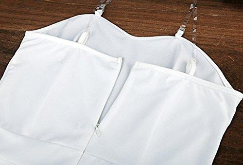 ZEARO Mode Sexy Combinaison Pantalons Sans Manches Femme Slim Jumpsuit Romper A Bretelle Haute Taille Longues Blanc