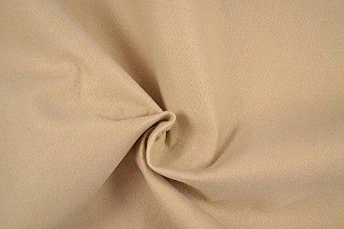 Fabrics-City FILZ STOFF 1MM-90CM DEKO BASTELN BEKLEIDUNG STOFFE, 4556 (Beige)