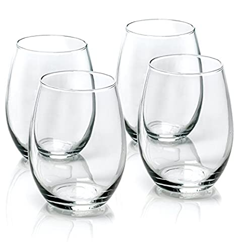 Anchor® Signatures 4 Pack Vienna Stemless White Wine Beverage Table
