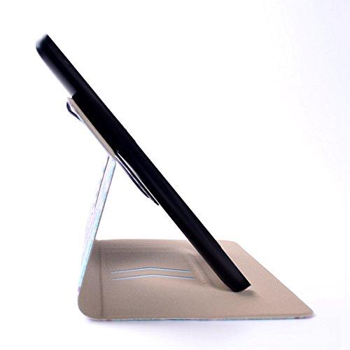 Coque Kindle Fire HD7 2015,étui à Rabat pour Amazon Kindle Fire HD7,ipad 2 Housse,Ekakashop Dessin Animé Fleur Pleine Retro Coque Tablette à Rabat Fermeture Magnétique Plastique Shell Protective Prote Étoile Pleine Fleur