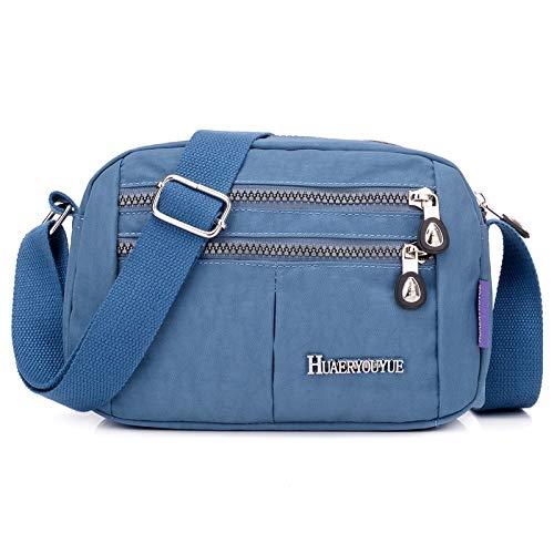 Moda spalla singola diagonale borsa a tracolla leggera impermeabile borsa a tracolla borsa da viaggio borsa da viaggio grigio fumo
