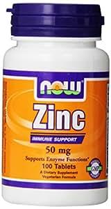 Now Foods - Gluconate de zinc - 100 Comprimés 50mg