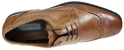 Red Tape Maglin RTX bruni Marron pour homme en gel souple léger dentelle Chaussures richelieu en cuir véritable pour homme Marron