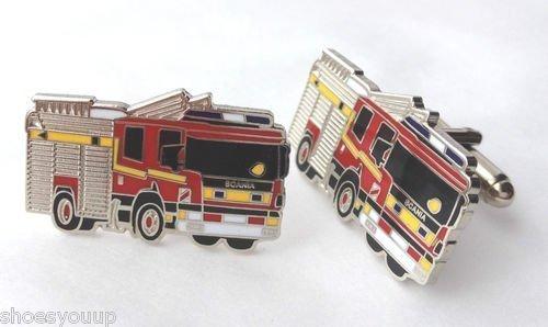 Services d'urgence camion Scania Lot de boutons de manchettes dans une boîte de présentation