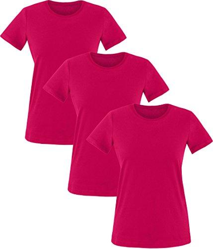 EZYshirt® Damen T-Shirt im 3er Pack (3 Pack Polo-shirts)