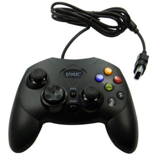 Eaxus®️ Xbox Shock Gamepad, ergonomischer Controller mit 2 Card Slots für die Originale Xbox (2001). Vibrationsfunktion, 2 Analogsticks, 6 Funktionstasten. (NICHT für Xbox 360, NICHT für Xbox One)