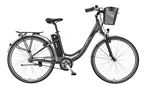 Telefunken E-Bike Elektrofahrrad Alu 28 Zoll mit 7-Gang Shimano Nexus Nabenschaltung, Pedelec Citybike leicht mit Fahrradkorb, Mittelmotor 250W 10Ah, 36V Sitzrohrakku, RC765 Multitalent
