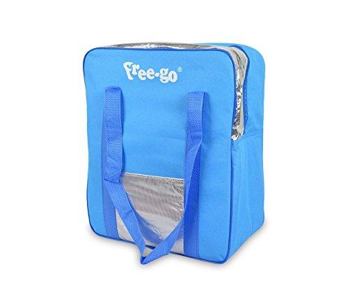 2502t borsa termica free-go 24 lt doppio manico h39xl32xp15 cm tasca anteriore. mws (celeste)