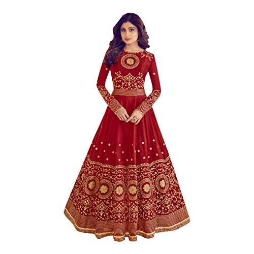 Maroon Muslimische Frauen Abaya Hijab Kaftan Bollywood Shalwar Anzug Pakistanische Party Wear Hochzeit Damen Anarkali Lange Salwar Kameez Kamiz Kleid Mesh Punjabi 7127 -