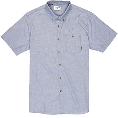 Oxford Woven Oxford-hemd (Billabong Herren All Day Oxford Short Sleeve Oberteil, blau, Large)