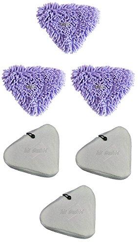 3 x Aqua Laser  Korallenbezüge Chenille Bezug 4 x Mikrofaserbezüge weiß Dampfreiniger Aqua Laser Premium Geräte
