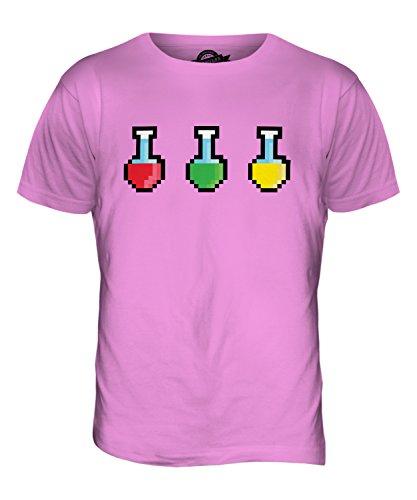 CandyMix Videogiochi Pozione Di Salute T-Shirt da Uomo Maglietta Rosa