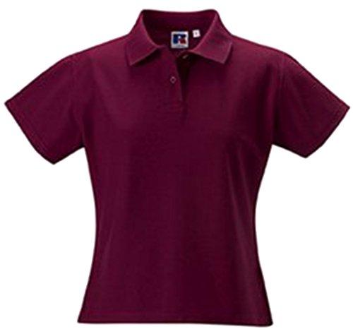 Jerzees Ladies Ultimate Pique Cotton® lo Shirt L Burgundy (Piqué Ultimate Damen Shirt)