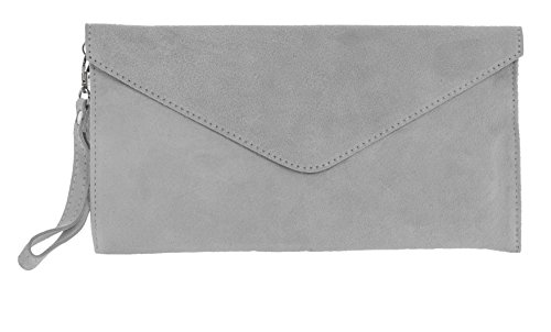 Big Handbag Shop, Borsetta da polso donna One Ice Grey (ST397)