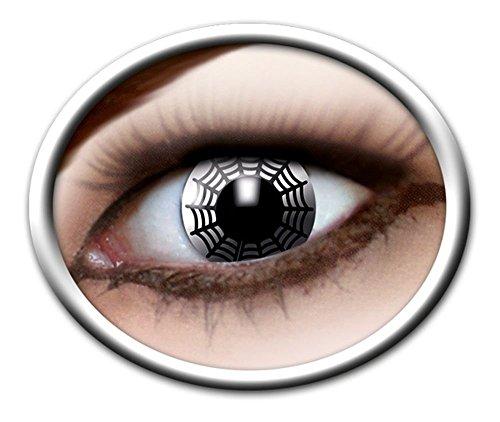 rbige Kontaktlinsen Spinnennetz PS 05347. Spider (Spiderman Kostüm Make Up)