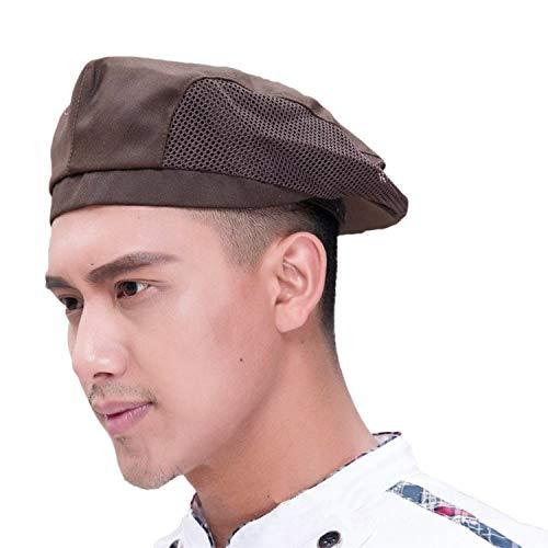 JIAHG Damen Herren Kochmütze Baskenmütze Mesh Kochen Bäcker Mütze Hut Cap Kappe Schiebemütze Koch Arbeitskleidung chef hat