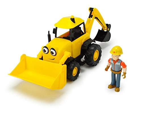 Dickie Toys 203134000 Bob der Baumeister Baggi Spielset Bagger mit Freilauf und Sprachausgabe, Gelb